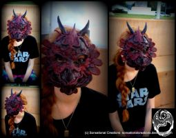 Dragon Mask - Handmade OOAK Mask by SonsationalCreations