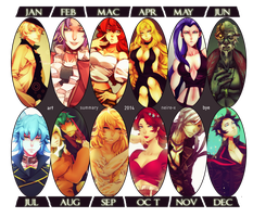 ART SUMMARY 2 0 1 4 (thank you guys) by Neire-X