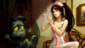 Nurse Akali wallpaper by Nighthunte