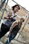 The Greene sisters - The Walking Dead by IrethMinllatur