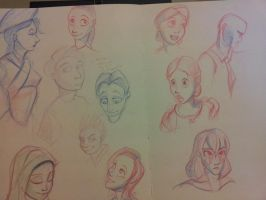 face sketch doodles by foofighters111