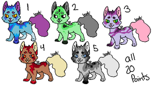 Faucet Hound Cheap Adopts (OPEN) by StoneWarrior-101