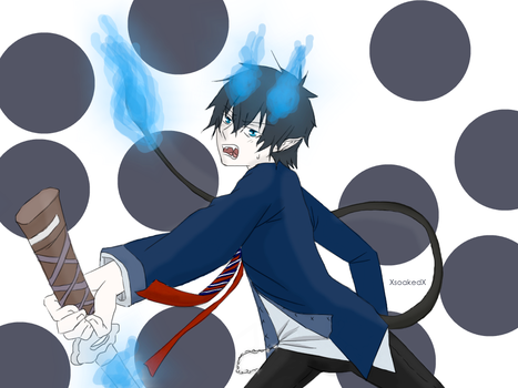 Blue Exorcist.Rin by XsoakedX