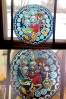 Kingdom Hearts Real Stained Glass by anime-echo
