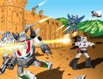 Autobot Decepticon Battle by Reese07