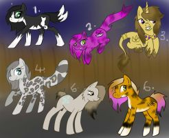 Cat-pony adoptables by Fortitudine-Shelter