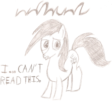 Letterpony can't read this. by Fox-E