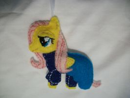 Fluttershy Hearthwarming Ball Ornament by grandmoonma
