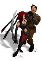 B is for Bloodrayne by Paranoidvin