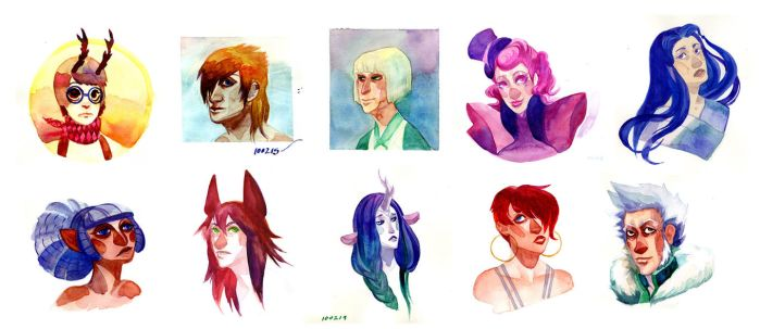 watercolorsketches by emoxic