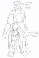 Saturday Afternoon Sketch - Blake's Accident by MoodyShooter