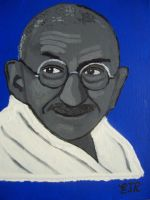 GANDHI IV by EAMONREILLYDOTCO by Gandhi-Club