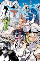 Mighty Morphin Power Rangers cover by paulmaybury