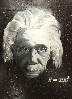 'Portrait of Einstein' by 3xtremeNYC