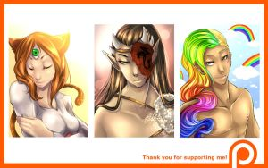 Patreon support / Busts for Crimi-azna by Yokufo