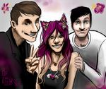 Art Req - Orchid the OC with Dan and Phil by MartyOfLungbarrow
