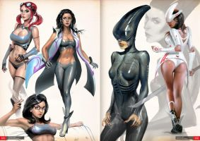 ArtbookPages - Chicks by Mikeypetrov