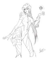 Widowmaker Lineart by Jit-Art