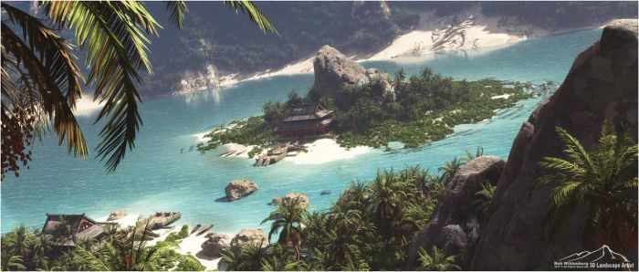 Perfect Hideaway prt. 3: Silent Beach by 3DLandscapeArtist