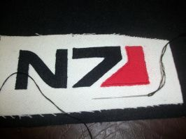 Mass Effect N7 Bag badge WIP by FezMiranda87