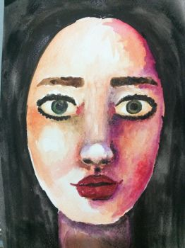 Watercolor Face by erika-lancaster85