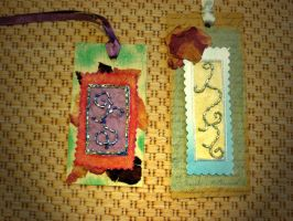 Beaded bookmarks by moonwolf17