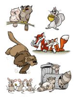 FuFu Animal Character Designs by andrewchandler80