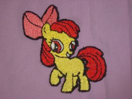 Handmade Apple Bloom patch by Theponypatchkid