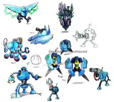 Killer Robot Sketches by ProjectHazoid