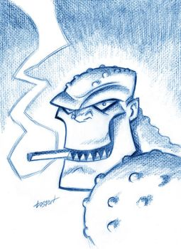 Killer Croc Sketch by LostonWallace
