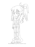 Amian Chibi -Lineart by TheULTImateAngel