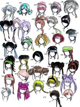 hairstyles - 2nd edition- by NeonGenesisEVARei