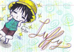 Luffy-Chibi-Fish Face '3' by SammieTheDorkWonder