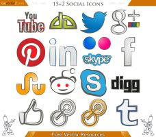 15 Social Icons by GovectorZ