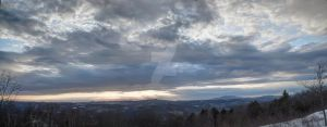 Putney Mountain Panoramic Sunset by AlpoArts