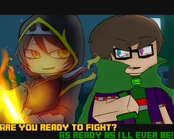 Collab with BounTiper [Fight] by MonoTheGrump
