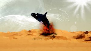 Even whales can not live in the desert by salahps