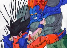 Android 13 punching Goku by ChahlesXavier