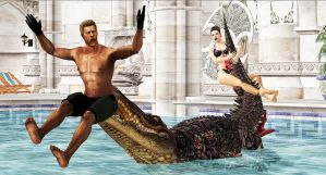 Wesker's Last Pool-Party by blw7920