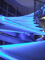 Blue Neon Spiral Stairs by alybel