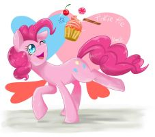 Pinkie Pie Happy! by benkomilk
