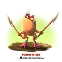 Tribal Frogs 02 - Puddle Slicer by ArtKitt-Creations