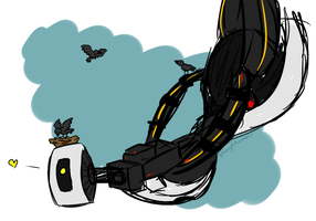 glados and her babies by ShinyVulpix