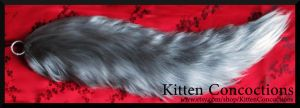 Silver Wolf Tail by KittenConcoctions