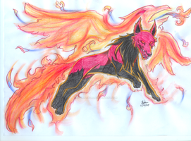 Wolf Series_Dark Phoenix by EmeraldSora