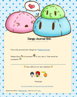 Dango Journal Skin ANIMATED by Metterschlingel