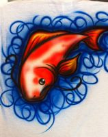 Koi Fish -airbrush by SparkyTheBadger