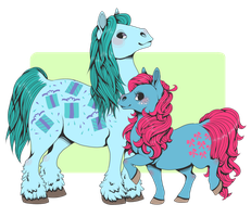 my small horses by kaijuparty