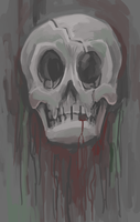 Background Skull by gsilverfish