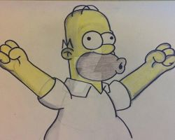 Homer Simpson - 125 of 365 by thegreatjery
